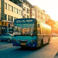 Belehrung im Bus